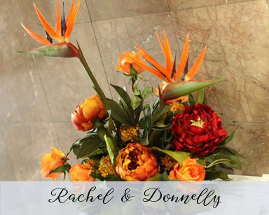 Fall Wedding Rachel & Donnelly: Red & Orange in Laurel Manor Livonia