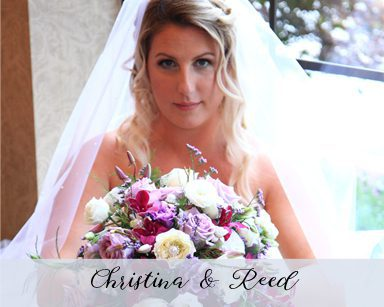 Summer Wedding Christina & Reed: Purple & Silver in Crystal Garden