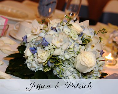 Fall Wedding Jessica & Patrick: Cornflower Blue in Crystal Garden Southgate