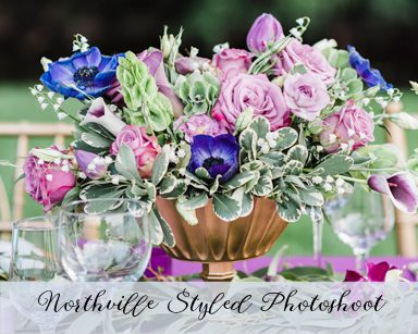 Styled Wedding Photoshoot: Purple & Green in Northville