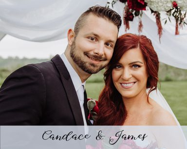 Spring Wedding Candace & James: Burgundy in Washington, Michigan