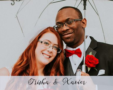 Spring Wedding Trisha & Xavier: Black and Red in Farmington