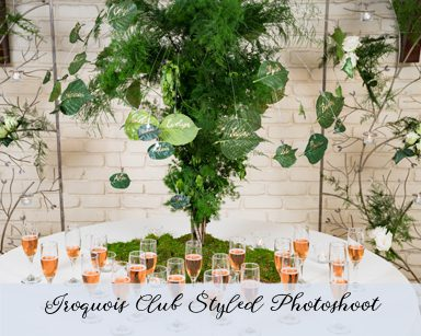 Styled Wedding Photoshoot: Green & Gold in Iroquois Club, Bloomfield Hills Michigan