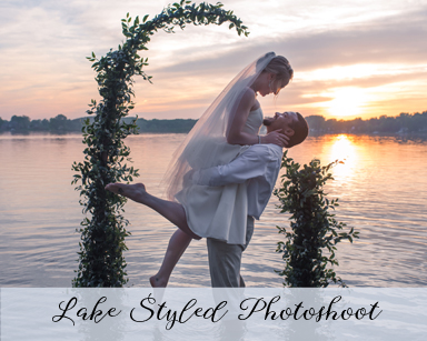 Styled Wedding Photoshoot: Shades of Pink at Lake, Hamburg Michigan
