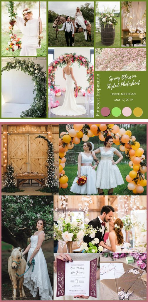 Spring blossom styled photoshoot in Howell, Michigan